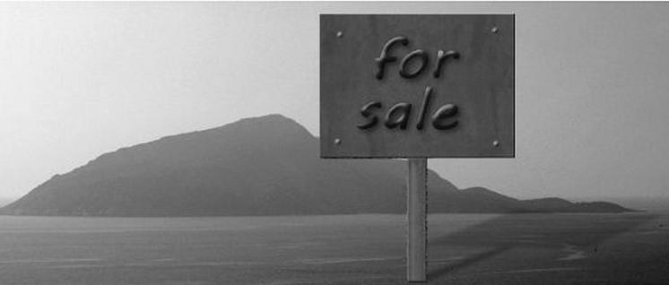 Insel zu verkaufen (Foto: Foto: DMY/wikimedia.org/CC BY-SA 3.0 – Montage: UZ)