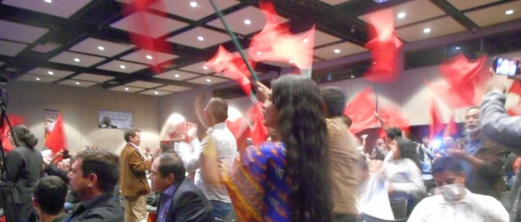 Begeistert für den Frieden – Delegierte des Parteitages der PCC