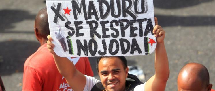 """""""Ich habe Maduro gewählt, respektiert das, verdammt!"""" (Foto: albaciudad)"""