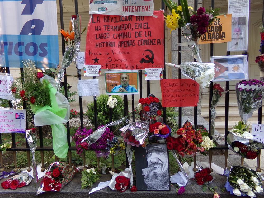 Würdigung Fidels in Buenos Aires, Argentinien