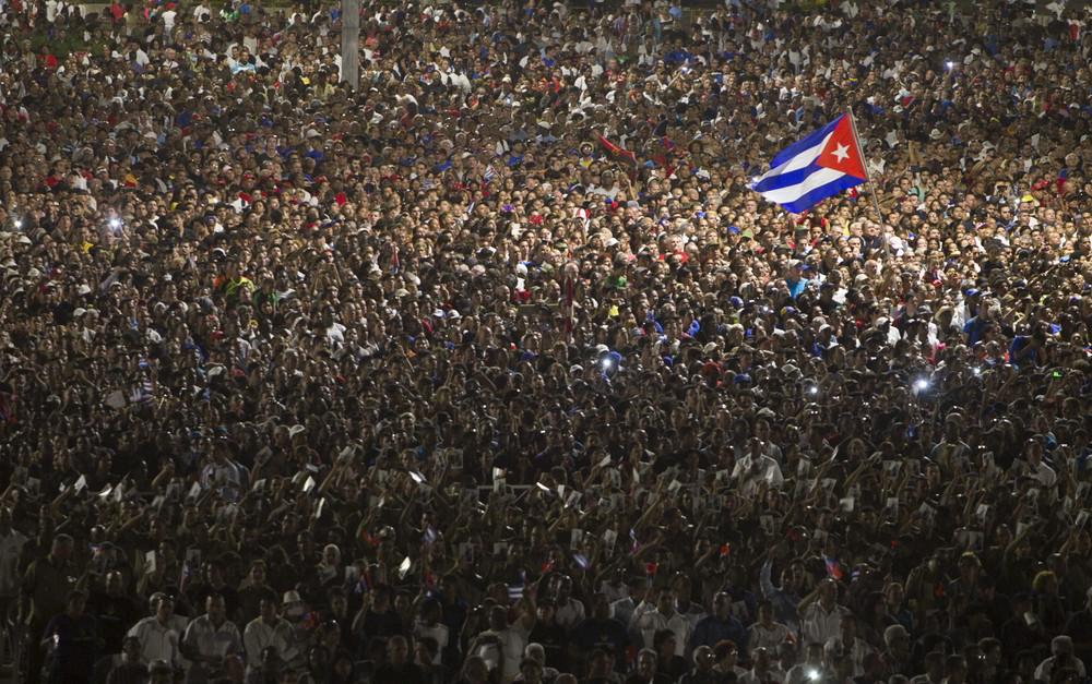 Abschied von Fidel auf dem Platz der Revolution in Havanna