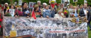 Gedenkveranstaltung der Russischen Gemeinde am 9. Mai in Nürnberg. (Foto: Gustl Ballin)