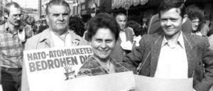 Düsseldorf, 1981 Gegen die Stationierung von Atomraketen (Foto: UZ-Archiv)
