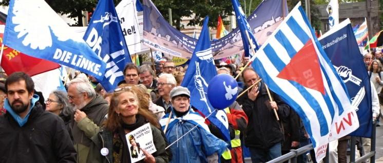 Ein Schritt nach vorn: die Demonstration der Friedensbewegung am 8. Oktober in Berlin. (Foto: Rudi Denner/r-mediabase.eu)