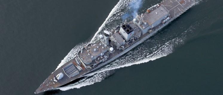 """Nach dem Willen der britischen Regierung soll die """"HMSMontrose"""" die Straße von Hormus unsicher machen. (Foto: LPhot Dan Rosenbaum/CROWN COPYRIGHT)"""