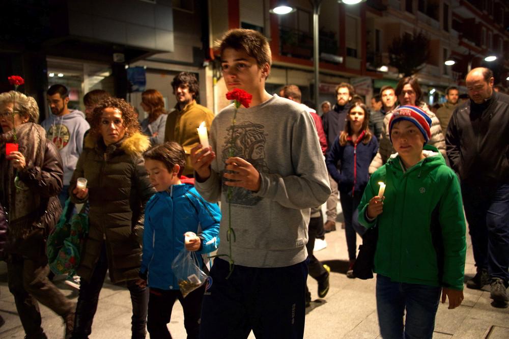 Gernika, Kerzenprozession durch die Stadt