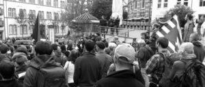 Protestdemo in Freiburg.