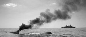 """ATALANTA-Einsatz: Vor der somalischen Küste patrouilliert die Fregatte """"Hamburg""""  (14.12.2010.) (Foto: ©Bundeswehr/Laudan)"""