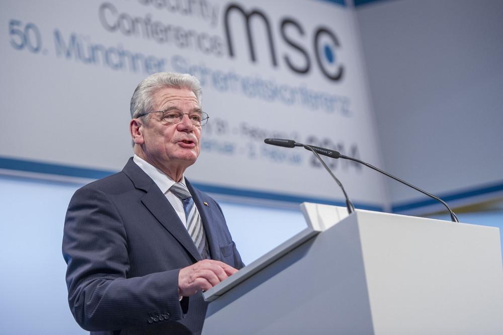 Gauck auf der Münchener Sicherheitskonferenz 2010