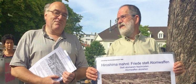 Karlsruhe: Gedenken an Hiroshima (Foto: DKP Karlsruhe)
