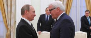 Geht es nach der SPD, soll mit auf persönlichen Beziehungen basierender Politik gegenüber Moskau Schluss sein: Frank-Walter Steinmeier und Wladimir Putin im Kreml 2016 (Foto: Kremlin.ru)