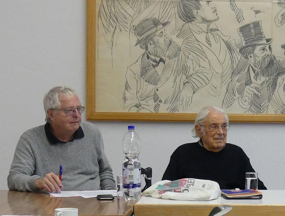 Arnold Schölzel und Georg Polikeit auf der Tagung der MES (Foto: Uwe Polikeit)