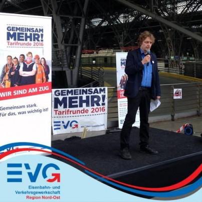 Rainer Perschewski ist Bundessprecher der EVG-Betriebsgruppen