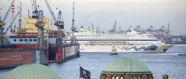 Ein Kreuzfahrtschiff hat fünf Millionen Mal höhere Emissionen als ein Pkw. (Foto: Joern Pollex/AIDA Cruises)