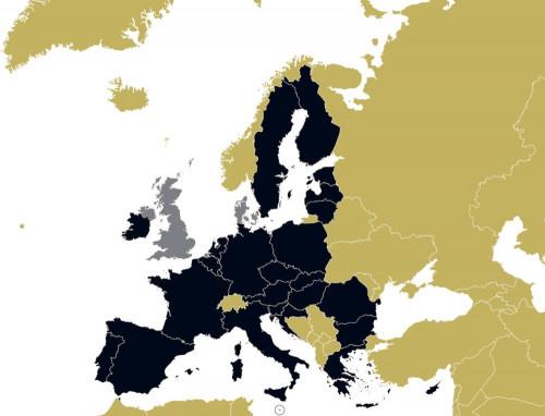 Die Pesco-Mitglieder der Europäischen Union sind schwarz gekennzeichnet.