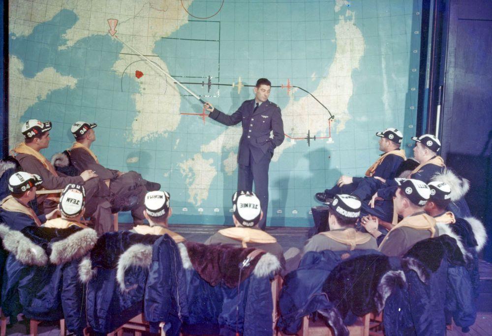 Krieg um Korea 1950-53: Hier werden die Ziele im Norden Koreas festgelegt. Die strategischen Bomber starteten von Japan aus.