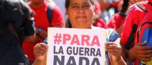 Gegen den Krieg gegen Venezuela am vergangenen Samstag in Caracas (Foto: Prensa Miraflores)