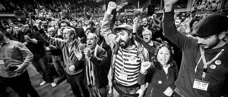 """Eigene Listen aufgestellt, regional mit """"Podemos"""" zusammengearbeitet: Beim Wahlkampf der """"Unidad Popular"""". (Foto: Unidad Popular)"""