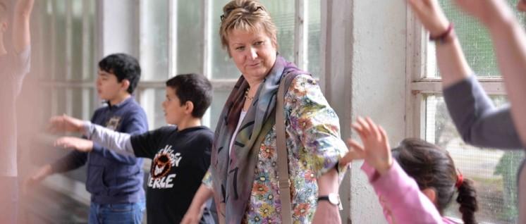 Individuell, flexibel, einfacher geht's nicht, oder? Die NRW-Schulministerin Sylvia Löhrmann fährt zu G8 einen Schlingerkurs. (Foto: Ina Besche-Krastl)