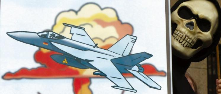 Die neuen FCAS-Kampfflugzeuge sollen als atomare Trägersysteme dienen können. (Foto: [url=https://www.flickr.com/photos/ippnw/32550338707/]ippnw Deutschland[/url])