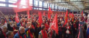 Warnstreik bei VW in Braunschweig am 1.Februar. (Foto: UZ)