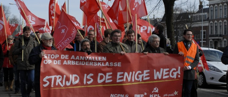 Januar, Auftaktdemo zur 4-Parteien-Konferenz in Groningen (Foto: Tom Brenner)