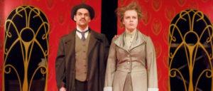 Die beiden Schauspieler Florian Kleine und Hannah Walther (Foto: UWE LEWANDOWSKI;info@lewandowski)