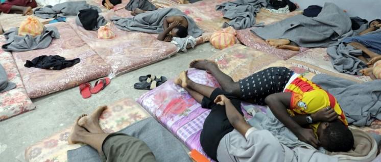 Die Verhältnisse in den libyschen Lagern sind menschenunwürdig. (Foto: UNHCR/Iason Foounten)