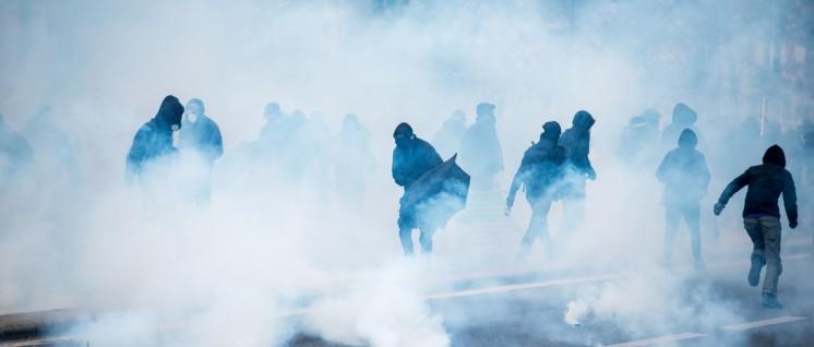 Paris: Gewalt (Foto: Christian Martischius/r-mediabase.eu)
