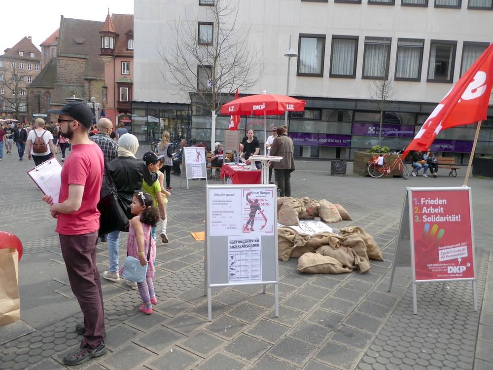 DKP-Infostand in Nürnberg
