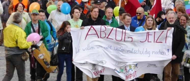 Internationale Demonstration In Ansbach