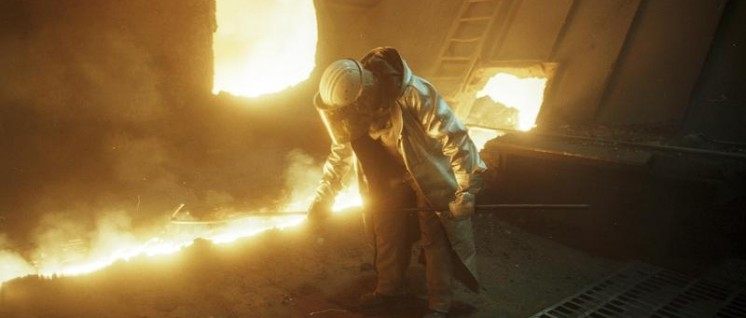 Duisburg: Thyssen-Stahlwerk, Arbeiter in der Hochofenanlage  (Foto: Bundesarchiv, B 145 Bild-F079044-0020 / CC-BY-SA 3.0 )