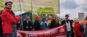 Kampf um Arbeitsplätze bei Thyssen Krupp Steel (Foto: Peter Köster)