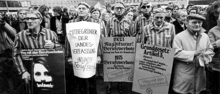 Demonstration in Düsseldorf am 5.2.1977 (Foto: UZ-Archiv)