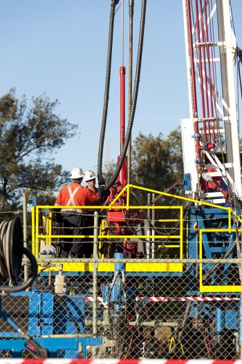 Frackinganlage in den USA– hierzulande sieht es ebenso aus …