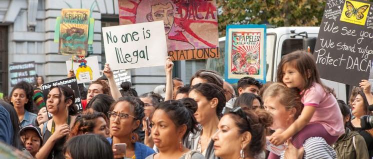 Kinder der illegal Eingewanderten demonstieren in San Francisco (Foto: [url=https://commons.wikimedia.org/wiki/File:DACA_rally_SF_20170905-8495.jpg?uselang=de]Pax Ahimsa Gethen/wikimedia[/url] C)