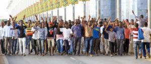 Demonstration gegen den Militärrat in Khartum (Foto: [url=https://www.flickr.com/photos/hmekki/46875590914/]Hind Mekk[/url]i)