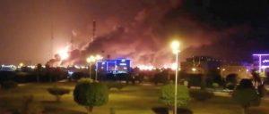 Ein Drohnenangriff zerstörte einen beträchtlichen Teil der saudischen Ölinfrastruktur.