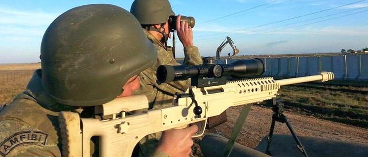 Türkische Soldaten 2017 in Idlib (Foto: [url=https://commons.wikimedia.org/wiki/File:F%C4%B1rat_Kalkan%C4%B1_Harekat%C4%B1nda_G%C3%B6revli_Deniz_Piyadesi.jpg]45aslan789456[/url])