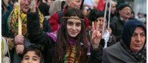 Demonstration gegen das PKK-Verbot im Februar in Berlin. (Foto: Montecruz Foto)
