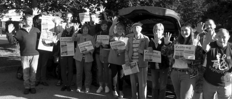 Mitte September unterstützten belgische Genossinnen und Genossen die Liste 5 / KPL im Wahlkampf in Differdingen. (Foto: KPL)