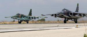 Russische Flugzeuge in der syrischen Basis Latakia: Eine Größe, auf die sich alle Akteure im Nahen Osten einstellen. (Foto: Mil.ru/wikimedia common/CC-BY 4.0)