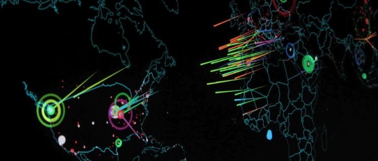 Echtzeitsimulation von Angriffshandlungen. Der Krieg im Cyberraum bietet die Möglichkeit in die Steuerung der Waffensysteme, des Nachschubs usw. sowie der Wirtschaft von Staaten in aller Welt eingreifen zu können.  (Foto: Christiaan Colen/flickr.com/CC BY-SA 2.0/www.flickr.com/photos/132889348@N07/20772328793)