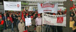 Während der Tarifrunde 2013 bei Daimler in Untertürkheim. Auch damals war die Leiharbeit ein Thema.                          (Foto: privat)