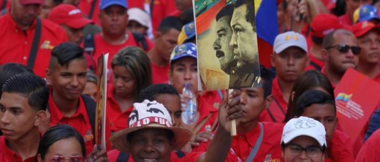 Unterstützer Maduros in Caracas (Foto: Gregorio Terán, AVN/Prensa Presidencial)
