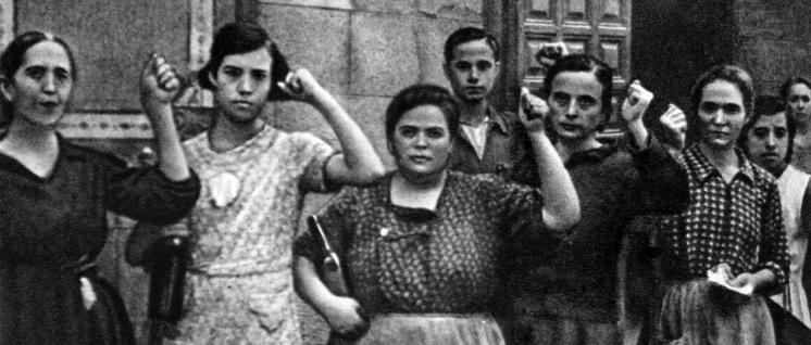 Toledo 1936: Frauen unterstützen die Volksfrontregierung in Spanien (Foto: Kolzov/gemeinfrei)
