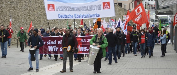 Mai-Demo in Siegen (Foto: Tom Brenner)