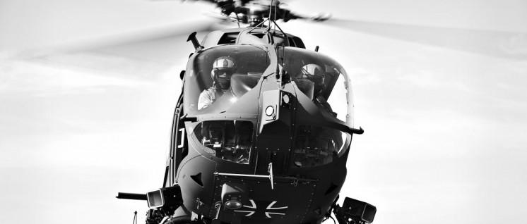 Trainingsflug des neuen Hubschraubers der Luftwaffe H145M LUH SOF vom Hubschraubergeschwader 64 Laupheim, am 11.04.2016. (Foto: 2016 Bundeswehr/Susanne Hähnel)