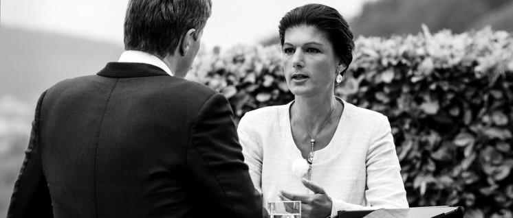 """Wagenknecht im Interview: """"Nicht links, Probleme zu verschweigen."""" (Foto: ZDF/Torsten Silz)"""