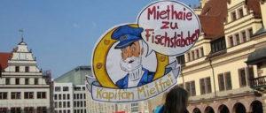 Demonstration gegen Verdrängung und Mietenwahnsinn am 6.April in Leipzig (Foto: Herbert Münchow)